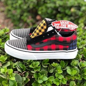 VANS Old Skool What The Buffalo Plaid Houndstooth
